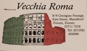 Vecchia Roma, Blandford Forum